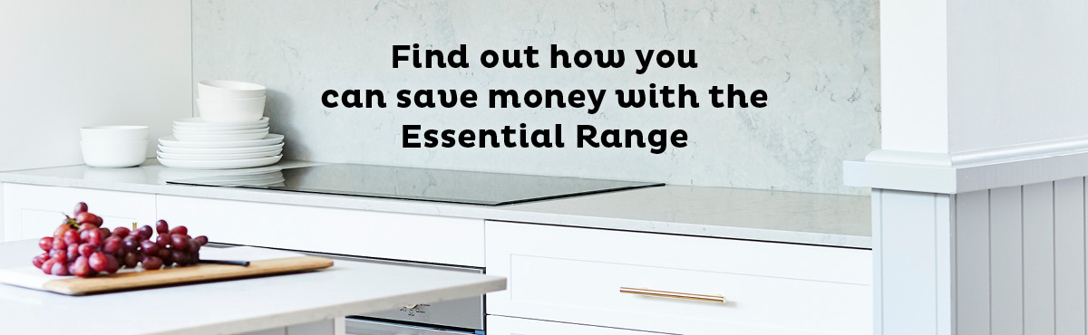 Find out how you can save money with the Essential Flat Pack Kitchen Range: