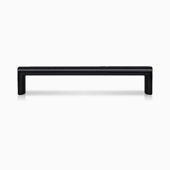 Handle: Matt Black Painted Oblong Bar 22-K-114