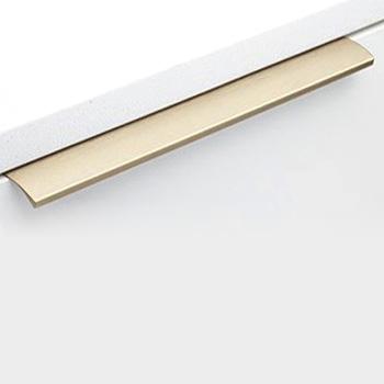 Handle: Brushed Brass Lip Pull 12-K-110